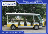 Green / White Rustproof  Body Electric Sightseeing Bus Tour 1 Year Warranty
