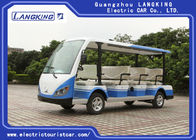 Blue / White 72V Electric Sightseeing Car , 11 Person Electric Passenger Bus