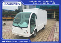 Iron Container Electric Luggage Cart / Small Cargo Vans With 2 Seats / Door Customized Dimension