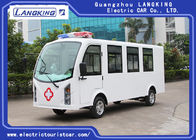 Customized Color Electric Golf Cart Ambulance 8 Seats + 1 Bed 72V /7.5KW AC Motor