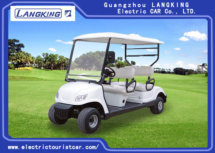 4 seats Safety Electric Golf Buggy Cart With Free Maintain Acid Battery Customized Logo
